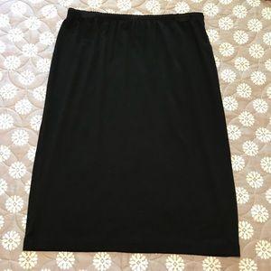J Jill black knit skirt size small petite